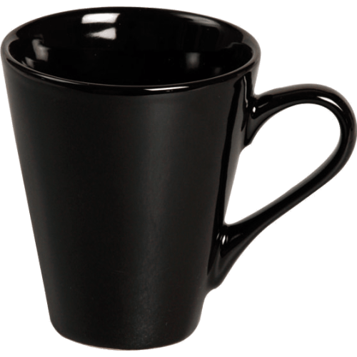 16556 Tasse klein Keramik Schwarz