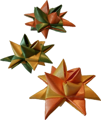 Fröbelsterne Kunststoff farbig sortiert