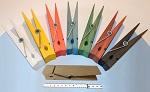 XXL Riesen Holzklammern Wäscheklammern Deko Klammer - Set mit allen 8 Farben