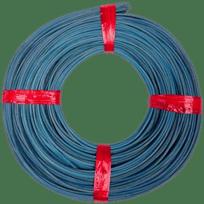 Peddigrohr Flechtmaterial Blau - Kreideblau, Ø 2,5mm, 250g Rolle