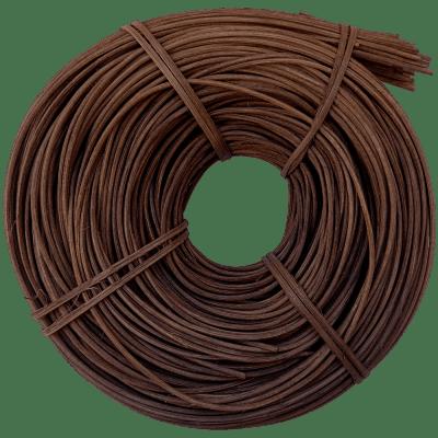 Peddigrohr Flechtmaterial Braun geräuchert, Ø 2,5mm, 250g Rolle