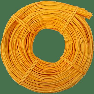 Peddigrohr Flechtmaterial Gelb - Sonnengelb, Ø 2,5mm, 250g Rolle