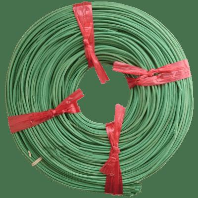 Peddigrohr Flechtmaterial Grün - Mintgrün, Ø 2,5mm, 250g Rolle