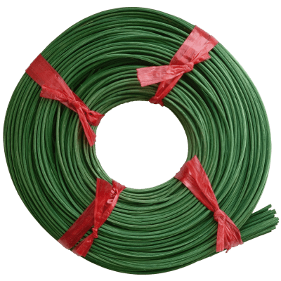 Peddigrohr Flechtmaterial Grün - Tannengrün, Ø 2,5mm, 250g Rolle