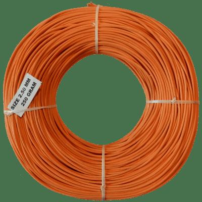 Peddigrohr Flechtmaterial Orange - Apricotorange, Ø 2,5mm, 250g Rolle