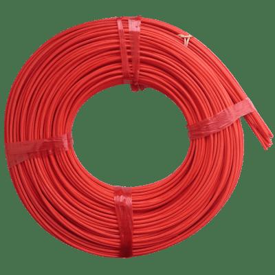 Peddigrohr Flechtmaterial Rot - Grenadierrot, Ø 2,5mm, 250g Rolle