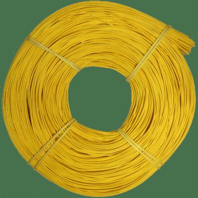 Peddigrohr Qualität Rotband - intensiv Gelb gefärbt