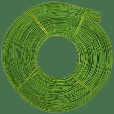 Peddigrohr Qualität Rotband - intensiv Grün gefärbt