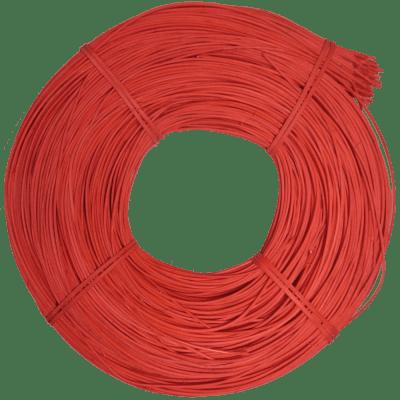Peddigrohr Qualität Rotband - intensiv Rot gefärbt