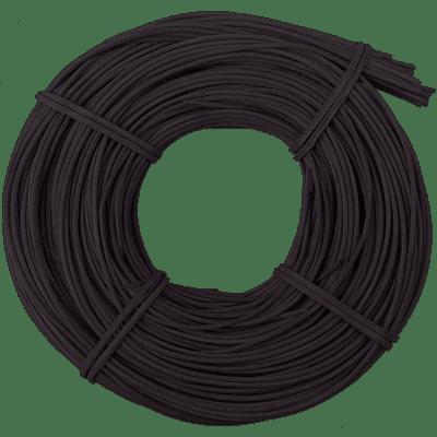 Peddigrohr Flechtmaterial Schwarz, Ø 2,5mm, 250g Rolle