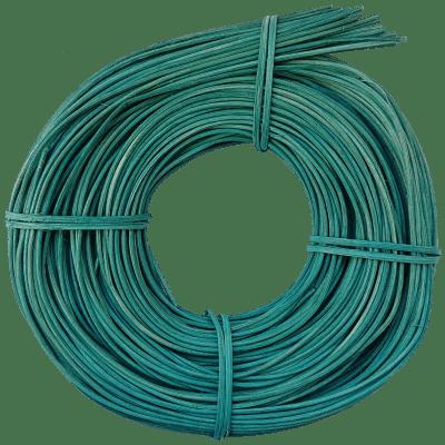 Peddigrohr Flechtmaterial Türkis - Türkisblau, Ø 2,5mm, 250g Rolle