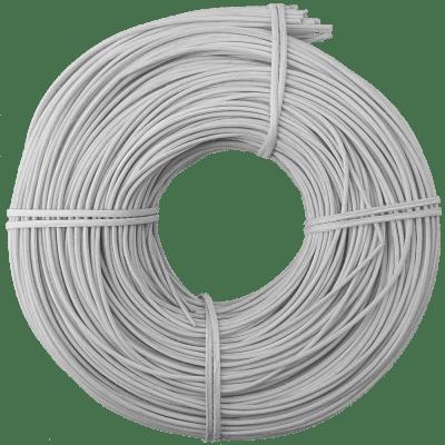 Peddigrohr Flechtmaterial Weiß, Ø 2,5mm, 250g Rolle