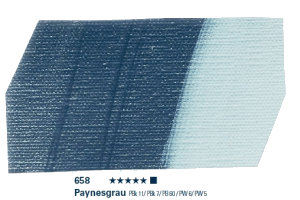 Schmincke Akademie Acryl - 60ml - 658 Paynesgrau