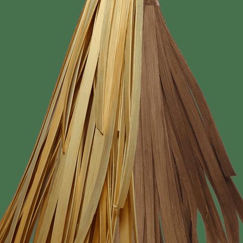 Peddigband Flechtmaterial natur flach in verschiedenen Breiten