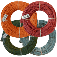 Korbflechten mit Peddigrohr - farbiges Sortiment Ø 2,5mm 250g Rollen