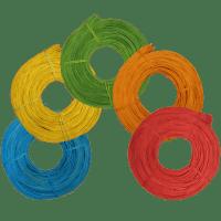 Peddigrohr farbig Blau Gelb Grün Orange Rot