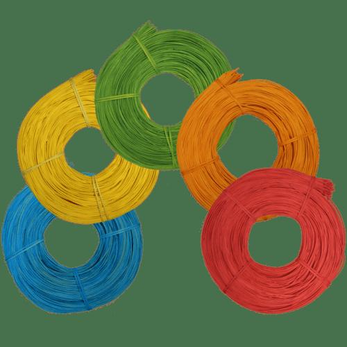 Peddigrohr Flechtmaterial intensiv gefärbt