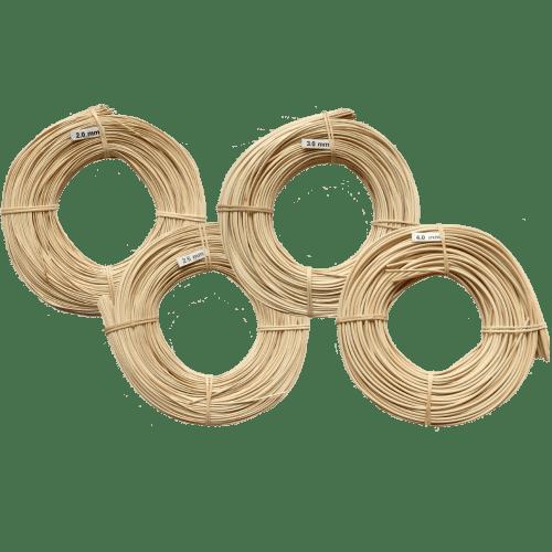Peddigrohr Flechtmaterial natur rund in verschiedenen Stärken
