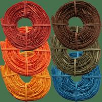 Peddigschiene farbig zum Korbflechten