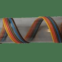 Peddigschiene farbig Flechtmaterial halbrund in verschiedenen Farben