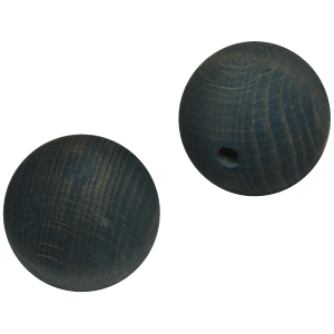 Holzkugel 100% Buchenholz blau lasiert