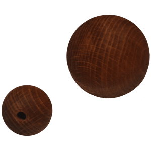 Holzkugel 100% Buchenholz braun lasiert