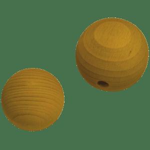 Holzkugel 100% Buchenholz gelb lasiert