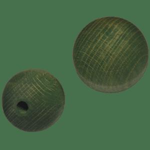 Holzkugel 100% Buchenholz grün lasiert