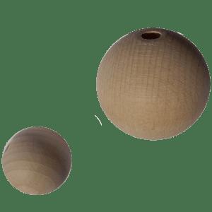 Holzkugel 100% Buchenholz natur unlasiert