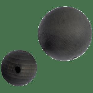 Holzkugel 100% Buchenholz schwarz lasiert