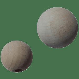 Holzkugel 100% Buchenholz weiß lasiert