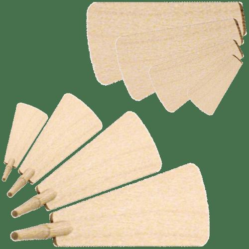 einzelne Flügel in verschiedenen Ausführungen und Größen