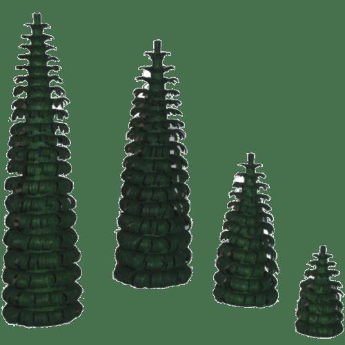 Spanbäume grün - Dekoration für Pyramiden